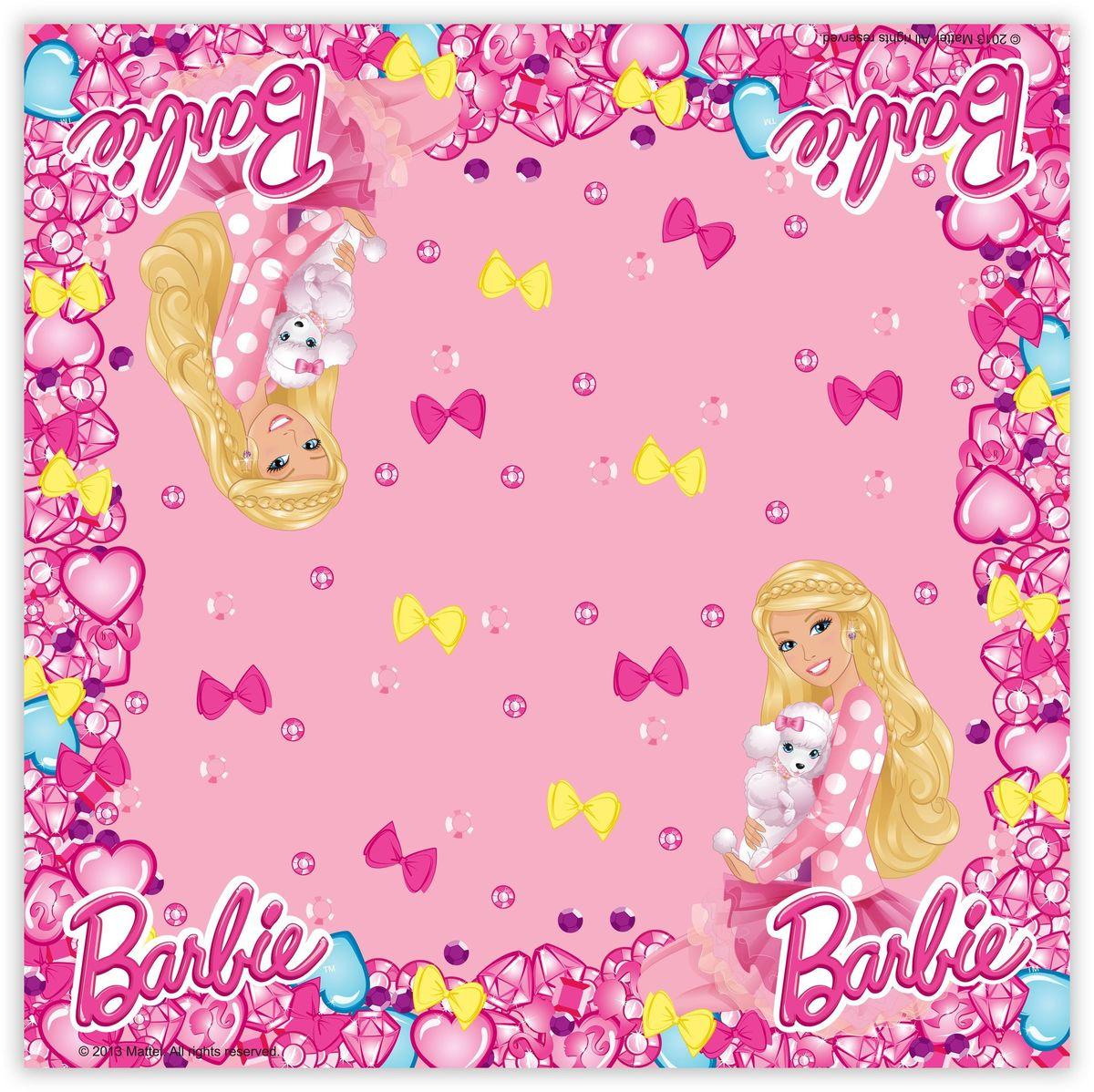 Barbie Салфетки Барби 20 шт30308Все ребятишки обожают праздники, ведь это время долгожданных подарков и разнообразных лакомств. И, конечно, помимо вкусного угощения родителям надо позаботиться и о красивой сервировке стола, чтобы передать атмосферу праздника и подарить деткам возможность встретить торжество вместе с любимой героиней. Например, с очаровательной Барби, которая изображена на салфетках, помогающих украсить стол и приносящих практическую пользу. В наборе Барби 20 бумажных двухслойных салфеток, декорированных ярким, привлекательным принтом. Размер: 33х33 см.
