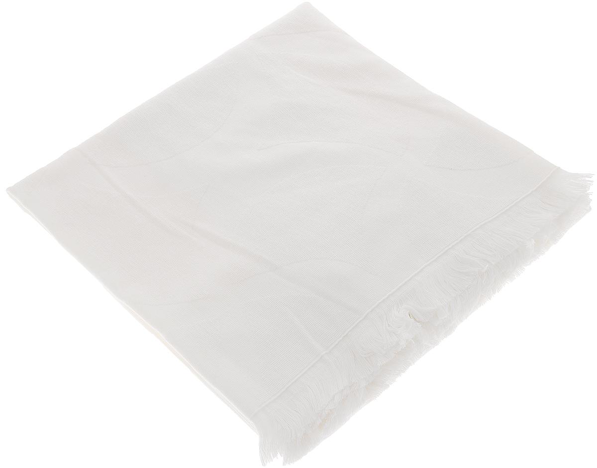 Полотенце Issimo Home Rondelle, цвет: белый, 90 x 180 см8699073910716Полотенце Issimo Home Rondelle выполнено из 100% хлопка. Изделие отлично впитывает влагу, быстро сохнет, сохраняет яркость цвета и не теряет форму даже после многократных стирок. Полотенце очень практично и неприхотливо в уходе. Оно прекрасно дополнит интерьер ванной комнаты.
