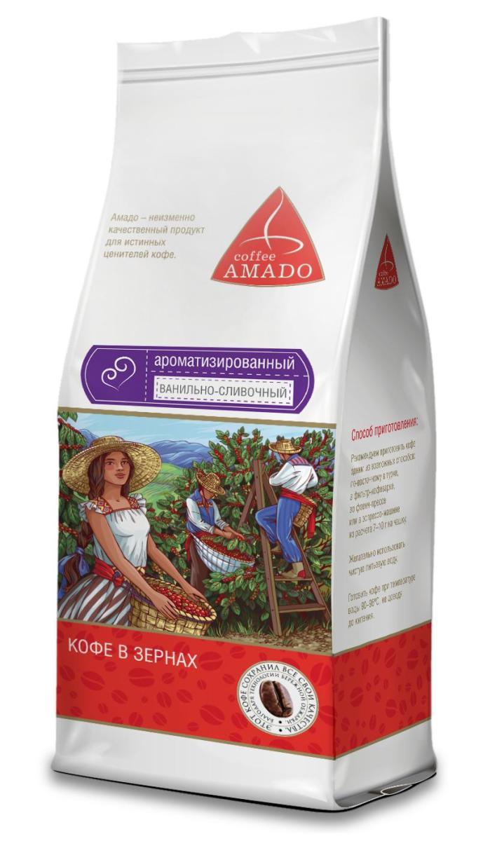 AMADO Ванильно-сливочный кофе в зернах, 200 г4607064134038Ванильно-сливочные нотки гармонично дополняют насыщенный вкус изысканного кофе AMADO. Рекомендуемый способ приготовления: по-восточному, френч-пресс, гейзерная кофеварка, фильтр-кофеварка, кемекс, аэропресс.