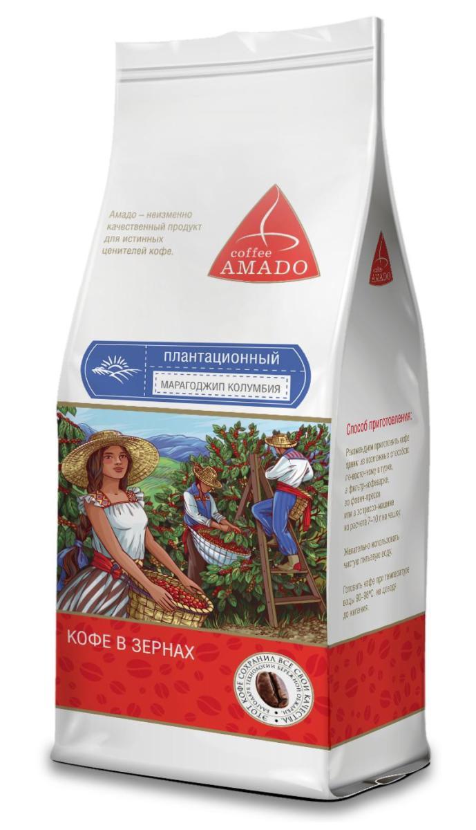 AMADO Марагоджип Колумбия кофе в зернах, 200 г4607064134892Кофе AMADO Марагоджип Колумбия имеет очень яркий аромат, с нотками ореха и какао. Насыщенный вкус с легкой приятной горчинкой и слабой кислотностью сочетается в нем с оттенками горького шоколада, ванили, и корицы. Рекомендуемый способ приготовления: по-восточному, френч-пресс, гейзерная кофеварка, фильтр- кофеварка, кемекс, аэропресс.