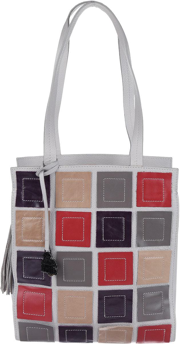 Сумка женская Frija, цвет: серый, бежевый, фиолетовый, красный. 21-0111-13