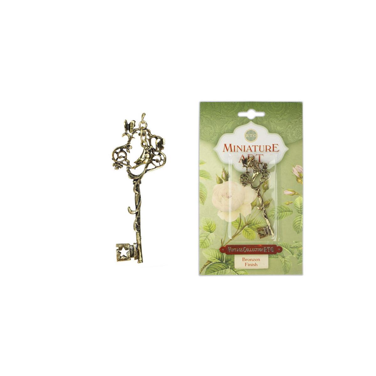 Подвеска винтажная RTO Ключ с птицей. 548031548031Винтажная подвеска изготовлена из металла под бронзу. Прекрасный декор для одежды, чтобы удивить и покорить сердца окружающих.