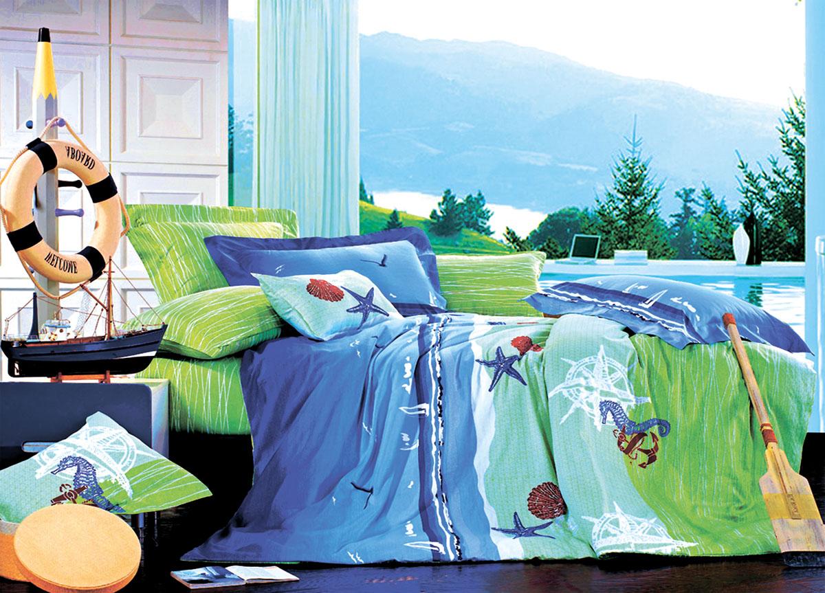 Комплект белья Primavera Classic Море, 2-спальный, наволочки 70x7069110Комплект постельного белья Primavera Classic Море является экологически безопасным для всей семьи, так как выполнен из высококачественного сатина (100% хлопка). Комплект состоит из пододеяльника на молнии, простыни и двух наволочек. Постельное белье оформлено ярким рисунком и имеет изысканный внешний вид. Сатин - производится из высших сортов хлопка, а своим блеском и легкостью напоминает шелк. Постельное белье из сатина превращает жаркие летние ночи в прохладные и освежающие, а холодные зимние - в теплые и согревающие. Приобретая комплект постельного белья Primavera Classic Море, вы можете быть уверенны в том, что покупка доставит вам и вашим близким удовольствие и подарит максимальный комфорт.