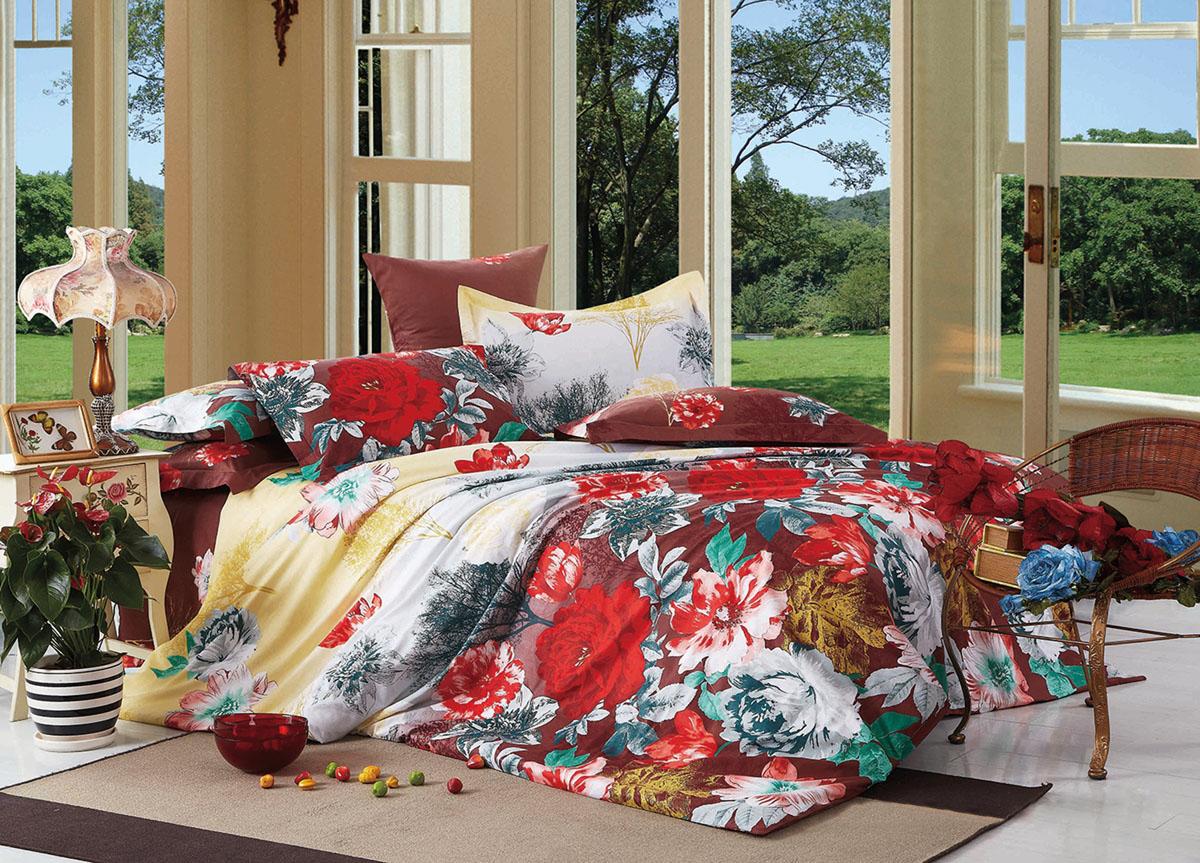 Комплект белья Primavera Classic. Красные цветы, 2-спальный, наволочки 70x70, цвет: бордовый72365Наволочки с декоративным кантом особенно подойдут, если вы предпочитаете класть подушки поверх покрывала. Кайма шириной 5-10см с трех или четырех сторон делает подушки визуально более объемными, смотрятся они очень аккуратно, даже парадно. Еще такие наволочки называют оксфордскими или наволочками «с ушками». Сатин – прочная и плотная ткань с диагональным переплетением нитей. Хлопковый сатин по мягкости и гладкости уступает атласу, зато не будет соскальзывать с кровати. Сатиновое постельное белье легко переносит стирку в горячей воде, не выцветает. Прослужит комплект из обычного сатина меньше, чем из сатина повышенной плотности, но дольше белья из любой другой хлопковой ткани. Сатин приятен на ощупь, под ним комфортно спать летом и зимой. Производство «Примавера» находится в Китае, что позволяет сократить расходы на доставку хлопка. Поэтому цены на это постельное белье более чем скромные и это не сказывается на качестве. Сатин очень гладкий, мягкий, но при этом, невероятно прочный....