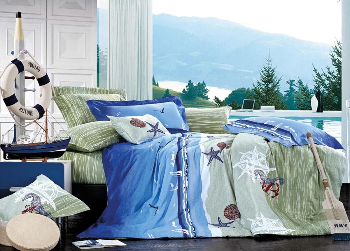 Комплект белья Primavera Classic Морское дно, 2-спальный, наволочки 70x7072418Комплект постельного белья Primavera Classic Морское дно является экологически безопасным для всей семьи, так как выполнен из высококачественного сатина (100% хлопка). Комплект состоит из пододеяльника на молнии, простыни и двух наволочек. Постельное белье оформлено ярким рисунком и имеет изысканный внешний вид. Сатин - производится из высших сортов хлопка, а своим блеском и легкостью напоминает шелк. Постельное белье из сатина превращает жаркие летние ночи в прохладные и освежающие, а холодные зимние - в теплые и согревающие. Приобретая комплект постельного белья Primavera Classic Морское дно, вы можете быть уверенны в том, что покупка доставит вам и вашим близким удовольствие и подарит максимальный комфорт.