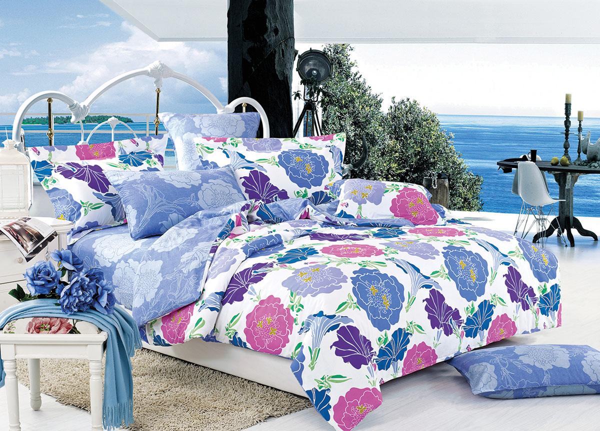 Комплект белья Primavera Classic Голубые цветы, 2-спальный, наволочки 70x7072419Комплект постельного белья Primavera Classic Голубые цветы является экологически безопасным для всей семьи, так как выполнен из высококачественного сатина (100% хлопка). Комплект состоит из пододеяльника на молнии, простыни и двух наволочек. Постельное белье оформлено ярким рисунком цветов и имеет изысканный внешний вид. Сатин - производится из высших сортов хлопка, а своим блеском и легкостью напоминает шелк. Постельное белье из сатина превращает жаркие летние ночи в прохладные и освежающие, а холодные зимние - в теплые и согревающие. Приобретая комплект постельного белья Primavera Classic Голубые цветы, вы можете быть уверенны в том, что покупка доставит вам и вашим близким удовольствие и подарит максимальный комфорт.
