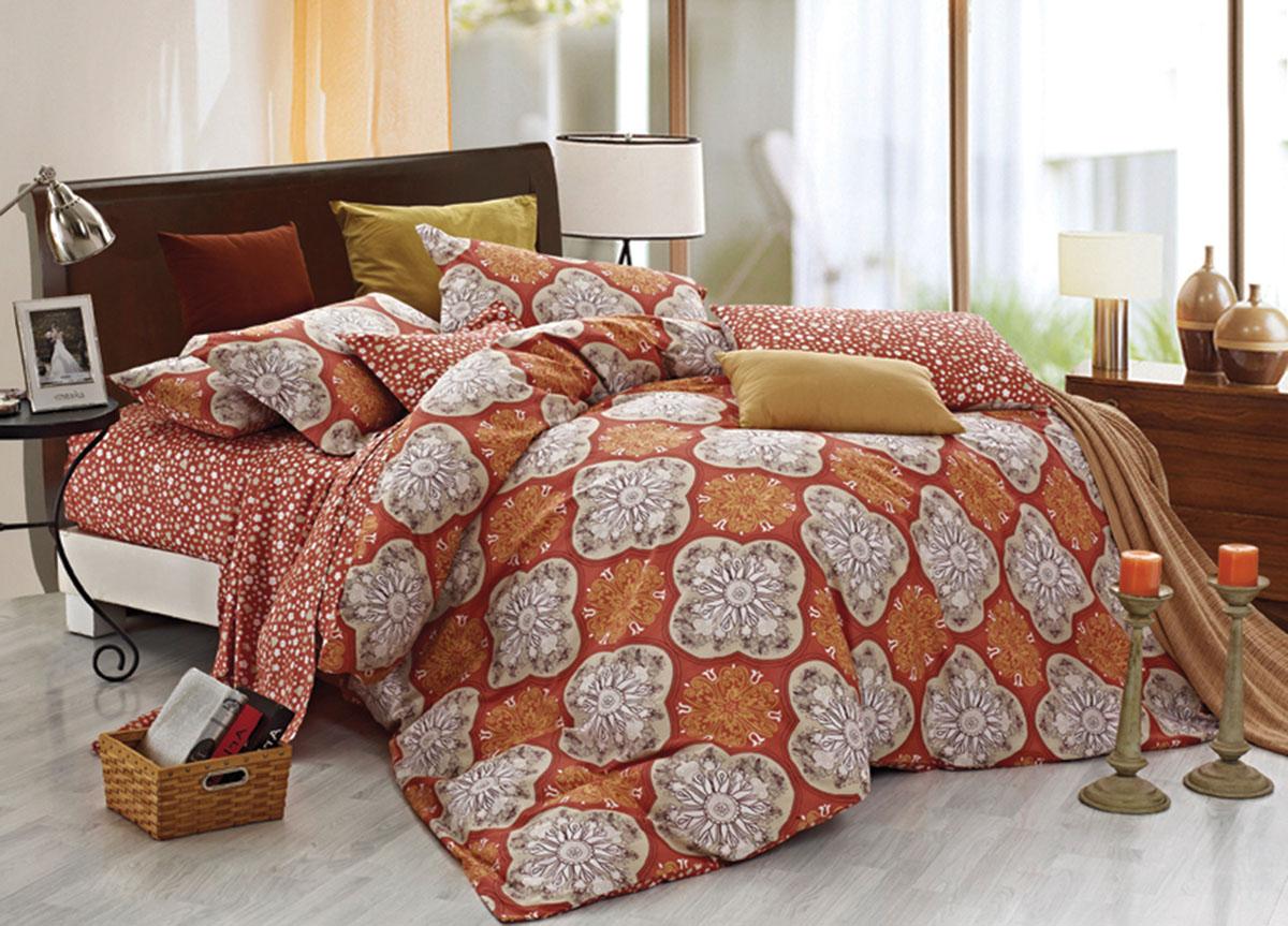 Комплект белья Primavera Classic. Кружева, 2-спальный, наволочки 70x70, цвет: коричневый72454Наволочки с декоративным кантом особенно подойдут, если вы предпочитаете класть подушки поверх покрывала. Кайма шириной 5-10см с трех или четырех сторон делает подушки визуально более объемными, смотрятся они очень аккуратно, даже парадно. Еще такие наволочки называют оксфордскими или наволочками «с ушками». Сатин – прочная и плотная ткань с диагональным переплетением нитей. Хлопковый сатин по мягкости и гладкости уступает атласу, зато не будет соскальзывать с кровати. Сатиновое постельное белье легко переносит стирку в горячей воде, не выцветает. Прослужит комплект из обычного сатина меньше, чем из сатина повышенной плотности, но дольше белья из любой другой хлопковой ткани. Сатин приятен на ощупь, под ним комфортно спать летом и зимой. Производство «Примавера» находится в Китае, что позволяет сократить расходы на доставку хлопка. Поэтому цены на это постельное белье более чем скромные и это не сказывается на качестве. Сатин очень гладкий, мягкий, но при этом, невероятно прочный....