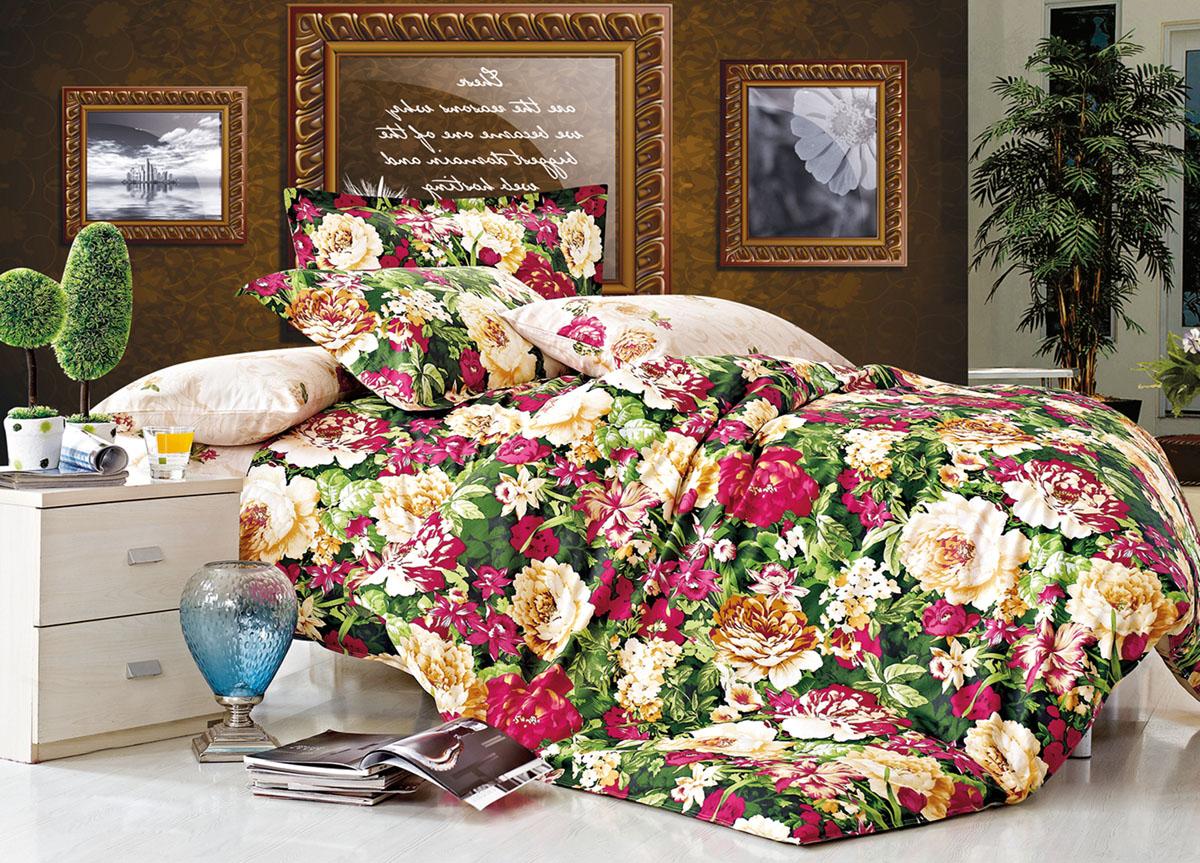 Комплект белья Primavera Classic Зеленый букет, 2-спальный, наволочки 70x7073025Комплект постельного белья Primavera Classic Зеленый букет является экологически безопасным для всей семьи, так как выполнен из высококачественного сатина (100% хлопка). Комплект состоит из пододеяльника на молнии, простыни и двух наволочек. Постельное белье оформлено ярким рисунком цветов и имеет изысканный внешний вид. Сатин - производится из высших сортов хлопка, а своим блеском и легкостью напоминает шелк. Постельное белье из сатина превращает жаркие летние ночи в прохладные и освежающие, а холодные зимние - в теплые и согревающие. Приобретая комплект постельного белья Primavera Classic Зеленый букет, вы можете быть уверенны в том, что покупка доставит вам и вашим близким удовольствие и подарит максимальный комфорт.