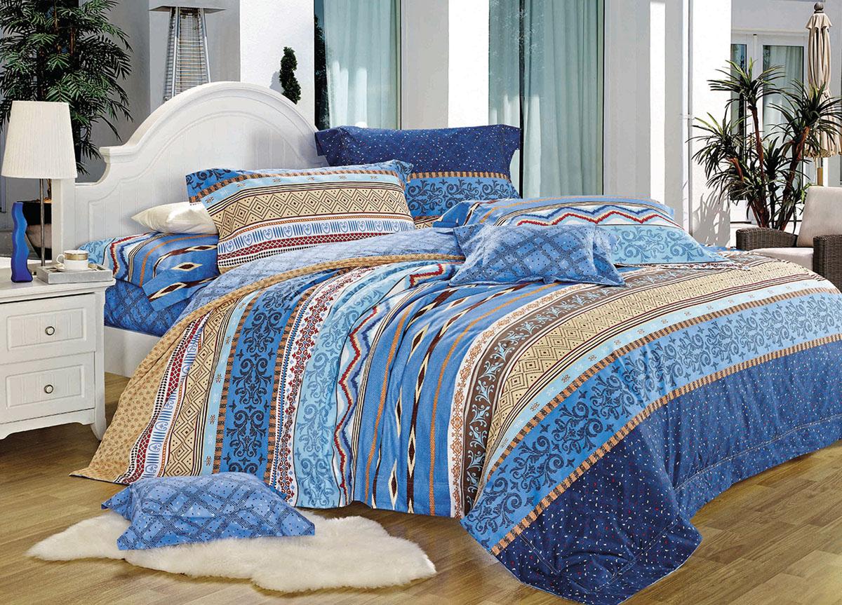 Комплект белья Primavera Classic. Морская волна, 2-спальный, наволочки 70x70, цвет: синий73037Наволочки с декоративным кантом особенно подойдут, если вы предпочитаете класть подушки поверх покрывала. Кайма шириной 5-10см с трех или четырех сторон делает подушки визуально более объемными, смотрятся они очень аккуратно, даже парадно. Еще такие наволочки называют оксфордскими или наволочками «с ушками». Сатин – прочная и плотная ткань с диагональным переплетением нитей. Хлопковый сатин по мягкости и гладкости уступает атласу, зато не будет соскальзывать с кровати. Сатиновое постельное белье легко переносит стирку в горячей воде, не выцветает. Прослужит комплект из обычного сатина меньше, чем из сатина повышенной плотности, но дольше белья из любой другой хлопковой ткани. Сатин приятен на ощупь, под ним комфортно спать летом и зимой. Производство «Примавера» находится в Китае, что позволяет сократить расходы на доставку хлопка. Поэтому цены на это постельное белье более чем скромные и это не сказывается на качестве. Сатин очень гладкий, мягкий, но при этом, невероятно прочный....