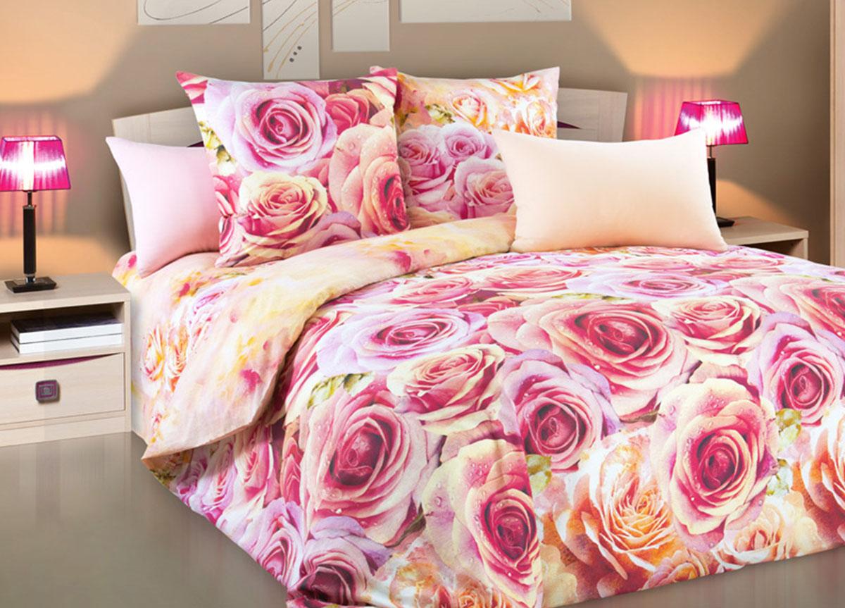 Комплект белья Primavera Романс, 1,5-спальный, наволочки 70x70, цвет: розовый83288Наволочки с декоративным кантом особенно подойдут, если вы предпочитаете класть подушки поверх покрывала. Кайма шириной 5-10см с трех или четырех сторон делает подушки визуально более объемными, смотрятся они очень аккуратно, даже парадно. Еще такие наволочки называют оксфордскими или наволочками «с ушками». Сатин – прочная и плотная ткань с диагональным переплетением нитей. Хлопковый сатин по мягкости и гладкости уступает атласу, зато не будет соскальзывать с кровати. Сатиновое постельное белье легко переносит стирку в горячей воде, не выцветает. Прослужит комплект из обычного сатина меньше, чем из сатина повышенной плотности, но дольше белья из любой другой хлопковой ткани. Сатин приятен на ощупь, под ним комфортно спать летом и зимой. Производство «Примавера» находится в Китае, что позволяет сократить расходы на доставку хлопка. Поэтому цены на это постельное белье более чем скромные и это не сказывается на качестве. Сатин очень гладкий, мягкий, но при этом, невероятно прочный....