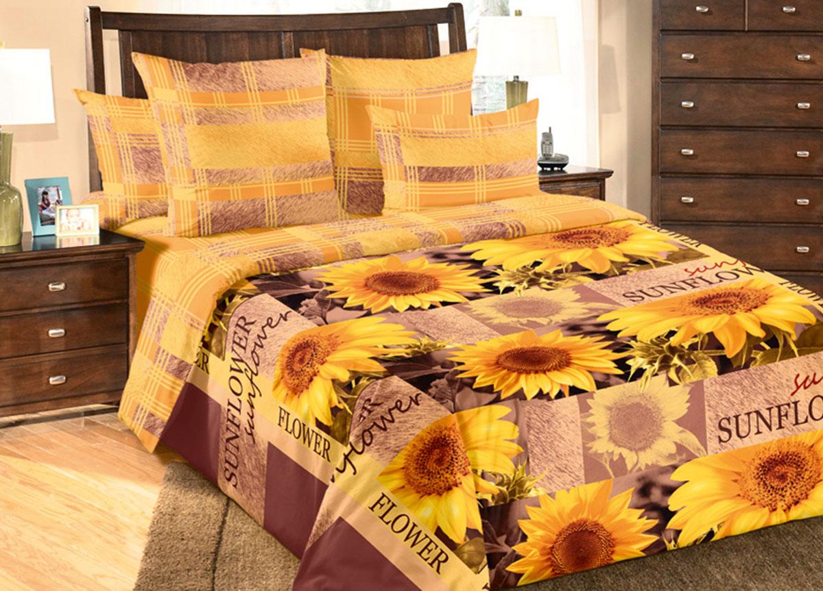 Комплект белья Primavera Солнечный цветок, семейный, наволочки 70x70, цвет: желтый83322Наволочки с декоративным кантом особенно подойдут, если вы предпочитаете класть подушки поверх покрывала. Кайма шириной 5-10см с трех или четырех сторон делает подушки визуально более объемными, смотрятся они очень аккуратно, даже парадно. Еще такие наволочки называют оксфордскими или наволочками «с ушками». Сатин – прочная и плотная ткань с диагональным переплетением нитей. Хлопковый сатин по мягкости и гладкости уступает атласу, зато не будет соскальзывать с кровати. Сатиновое постельное белье легко переносит стирку в горячей воде, не выцветает. Прослужит комплект из обычного сатина меньше, чем из сатина повышенной плотности, но дольше белья из любой другой хлопковой ткани. Сатин приятен на ощупь, под ним комфортно спать летом и зимой. Производство «Примавера» находится в Китае, что позволяет сократить расходы на доставку хлопка. Поэтому цены на это постельное белье более чем скромные и это не сказывается на качестве. Сатин очень гладкий, мягкий, но при этом, невероятно прочный....