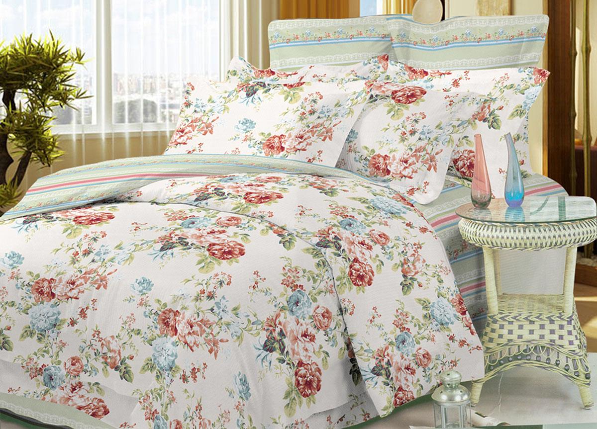 Комплект белья Primavera Classic Цветочное утро, 2-спальный, наволочки 70x7086478Комплект постельного белья Primavera Classic Цветочное утро является экологически безопасным для всей семьи, так как выполнен из высококачественного сатина (100% хлопка). Комплект состоит из пододеяльника на молнии, простыни и двух наволочек. Постельное белье оформлено ярким рисунком цветов и имеет изысканный внешний вид. Сатин - производится из высших сортов хлопка, а своим блеском и легкостью напоминает шелк. Постельное белье из сатина превращает жаркие летние ночи в прохладные и освежающие, а холодные зимние - в теплые и согревающие. Приобретая комплект постельного белья Primavera Classic Цветочное утро, вы можете быть уверенны в том, что покупка доставит вам и вашим близким удовольствие и подарит максимальный комфорт.