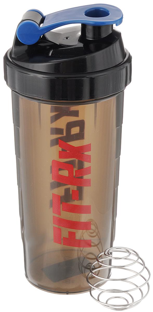 Шейкер FIT-Rx, со спиралью, 700 мл00807Шейкер FIT-Rx, изготовленный из высококачественного полипропилена, выполнен в виде стаканчика. Закручивающаяся крышка снабжена специальным отверстием. Шейкер предназначен для холодных напитков и приготовления белковых или углеводных коктейлей. Для наилучшего смешивания компонентов в комплекте имеется шар, выполненный из нержавеющей стали. Рельефные стенки на корпусе обеспечивают надежный хват и комфорт во время использования. С помощью этого шейкера вы сможете приготовить смешанный напиток у себя дома. Диаметр шейкера (по верхнему краю): 8,5 см. Высота шейкера (с учетом крышки): 23 см.