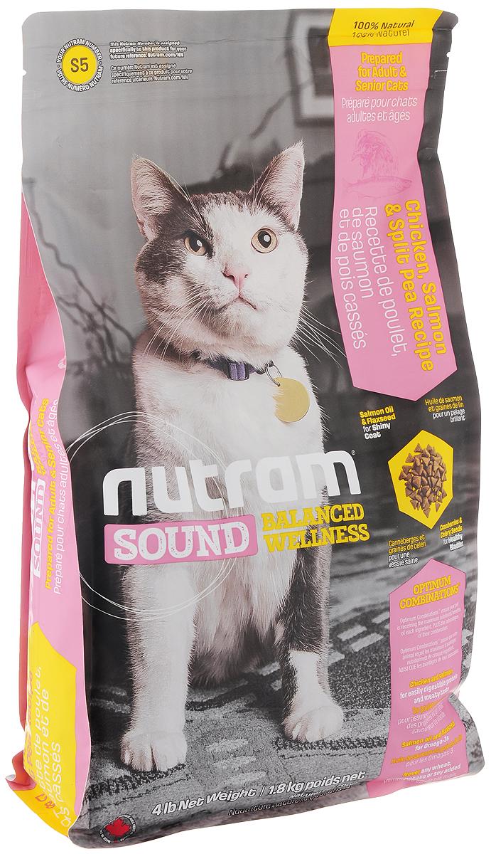 Корм сухой Nutram Sound Balanced Wellness S5 для взрослых и пожилых кошек, с курицей, лососем и горохом, 1,8 кг83086Полноценный, полезный, богатый питательными веществами сухой корм Nutram Sound Balanced Wellness S5 для взрослых и пожилых кошек, который улучшает самочувствие и здоровье питомцев по принципу изнутри-наружу. Подход Nutram к питанию начинается со здорового мочевого пузыря. Для этого используется сочетание клюквы и семян сельдерея. Клюква, естественный подкислитель, и семена сельдерея, эффективное мочегонное, регулируют баланс жидкости в организме. Поддерживаются уровень рН и уровень золы в моче, что способствует здоровью мочеполовой системы. Сочетание жира лососевых рыб и семян льна, богатых омега-3 жирными кислотами, позволяет системе Оптимальных сочетаний обеспечить все необходимые питательные вещества для поддержки здоровья кожи и шерсти. - Корм для кошек содержит мясо курицы и лосося - источники легкоусвояемых белков и привлекательного вкуса. - Волокна гороха способствуют хорошему пищеварению. - Жир лососевых рыб и...