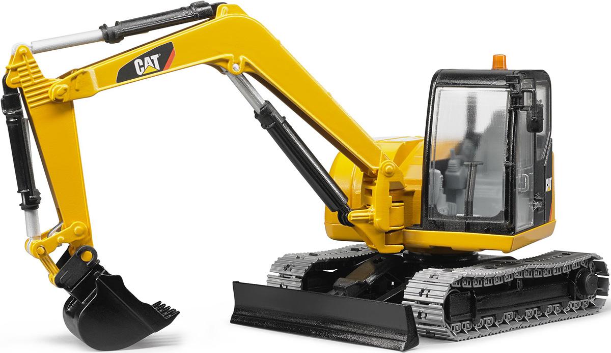 Bruder Экскаватор гусеничный CAT с отвалом02-456Гусеничный экскаватор Bruder Cat, выполненный из прочного и безопасного материала, обязательно понравится каждому мальчику и займет его увлекательной игрой. Машина является уменьшенной копией экскаватора фирмы Cat. Экскаватор оснащен отвалом и большим ковшом, с помощью которого можно перемещать материалы (камушки, песок, веточки и др.), убирать строительный мусор или расчищать площадку. Мощный экскаватор за считанные минуты справляется с большой глыбой песка. Экскаватором легко копать, держась за ручку на его стреле. У игрушки полнофункциональная стрела и съемный ковш, кабина поворачивается на 360 градусов. С этим реалистично выполненным экскаватором ваш малыш часами будет занят игрой.