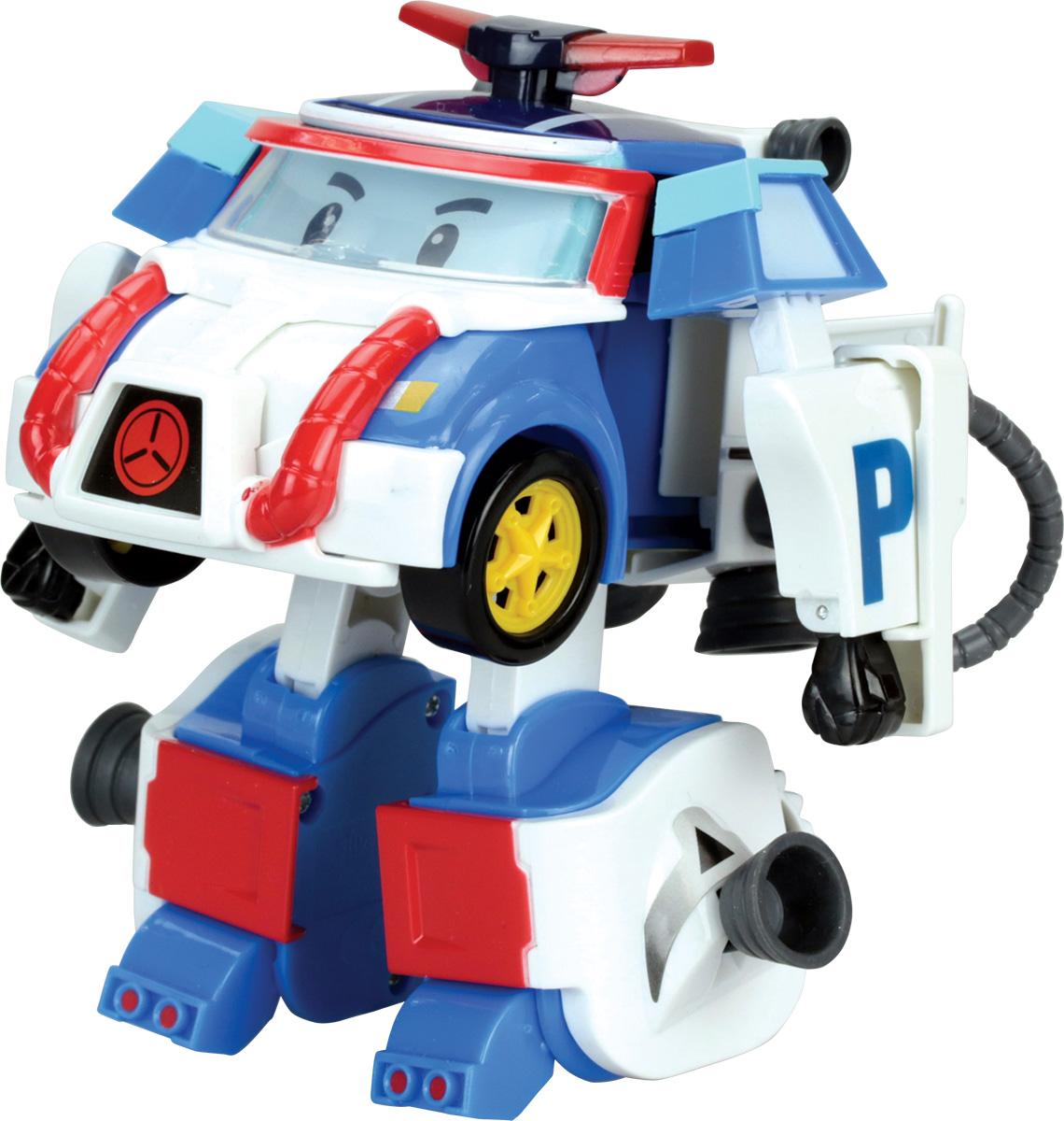 Robocar Poli Игрушка-трансформер Поли 10 см83311Оригинальная игрушка-трансформер Поли надолго займет внимание вашего ребенка. Игрушка выполнена из безопасного пластика синего и белого цветов в виде Поли - нового героя из последнего сезона мультсериала Робокар Поли (Robocar Poli). Поли, один из четверки спасателей, который патрулирует город и смотрит за порядком, а когда нужна помощь, выезжает на место и превращается в робота. Игрушка всего за пару движений легко трансформируется. На голову-кабину в области лобового стекла крепятся очки с желтой оправой. В районе радиаторной решетки, где у Поли рот, крепится приспособление для подачи воздуха, а шланг уходит назад к специальному сосуду со сжатым воздухом. На длинных ногах, сформированных из багажника автомобиля, крепятся желтые ускорители, которые помогают продвигаться в безвоздушном пространстве во время полета в космосе.Он и другие герои мультфильма в игровой форме помогут вашему ребенку познакомиться с правилами дорожного движения и узнают, для чего...