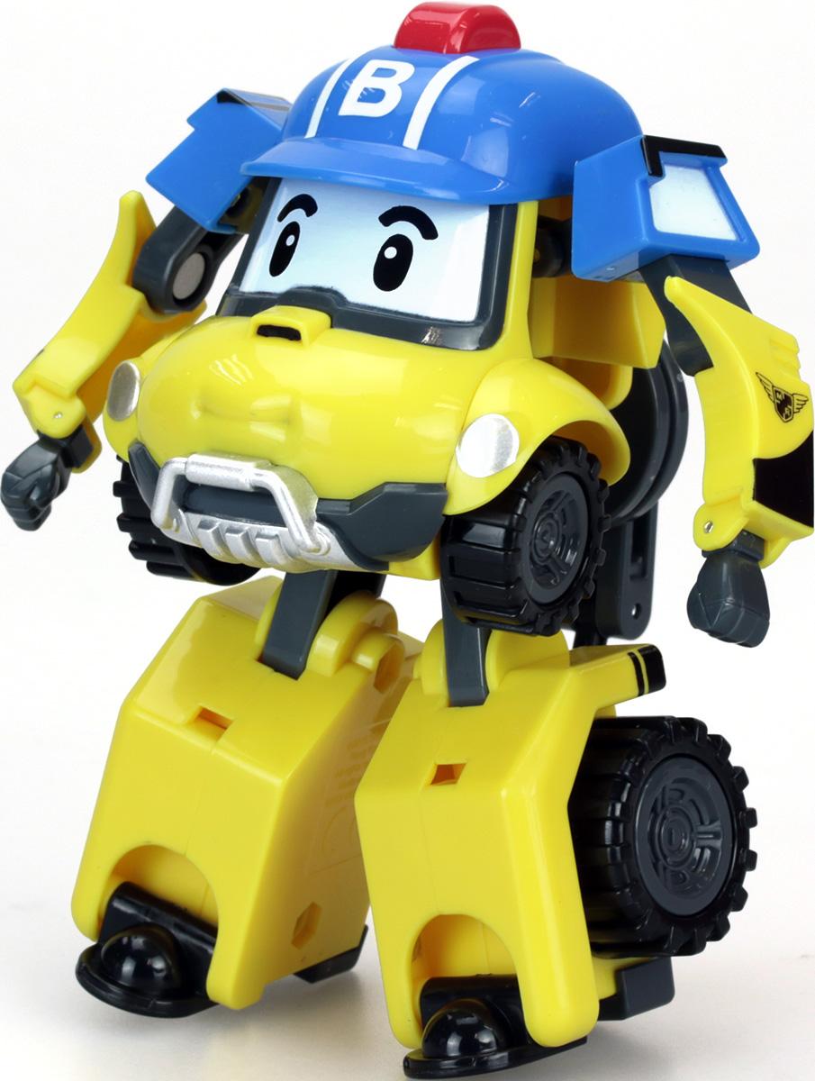 Robocar Poli Игрушка-трансформер Баки83308Оригинальная игрушка-трансформер Баки надолго займет внимание вашего ребенка. Игрушка выполнена из безопасного пластика желтого и голубого цветов в виде Баки - персонажа популярного мультсериала Робокар Поли (Robocar Poli). Игрушка всего за пару движений легко трансформируется из робота в грузовичок и обратно. Ответственный и позитивный герой понравится ребенку, а его трансформация сделает игру еще интереснее. Он и другие герои мультфильма в игровой форме помогут детям познакомиться с правилами дорожного движения и узнают, для чего нужны разные спецмашины. При этом малыши расширяют свой кругозор и развивают воображение.<br Эта игрушка непременно понравится вашему малышу. Порадуйте ребенка таким замечательным подарком!