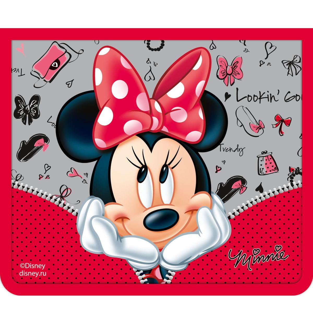 Disney Папка для тетрадей Минни цвет красный серый формат А529389Папка Disney Минни формата А5 - это оптимальный способ уберечь от деформации тетради, документы, рисунки и прочие бумаги. С ней можно забыть о погнутых уголках и краях. Кроме того, теперь все необходимые бумаги и тетради будут аккуратно собраны, а не распределены по разным местам, что сократит время их поиска. Аксессуар, изготовленный из ламинированного картона с ярким принтом, ПВХ и полиэстера, закрывается на молнию. Одна стенка папки прозрачна, что позволяет видеть содержимое в ней и быстрее отыскать нужный предмет. Безукоризненный стиль Минни Маус восхищает девочек по всему миру, поэтому никакая юная модница не устоит перед красивым и удобным аксессуаром с ее изображением.