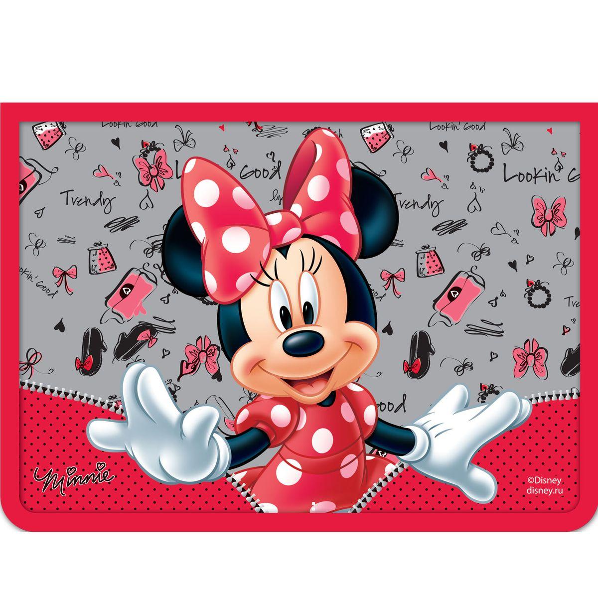 Disney Папка для тетрадей Минни цвет красный серый формат А429390Папка Disney Минни формата А4 - это оптимальный способ уберечь от деформации тетради, документы, рисунки и прочие бумаги. С ней можно забыть о погнутых уголках и краях. Кроме того, теперь все необходимые бумаги и тетради будут аккуратно собраны, а не распределены по разным местам, что сократит время их поиска. Аксессуар, изготовленный из ламинированного картона с ярким принтом, ПВХ и полиэстера, закрывается на молнию. Одна стенка папки прозрачна, что позволяет видеть содержимое в ней и быстрее отыскать нужный предмет. Безукоризненный стиль Минни Маус восхищает девочек по всему миру, поэтому никакая юная модница не устоит перед красивым и удобным аксессуаром с ее изображением.