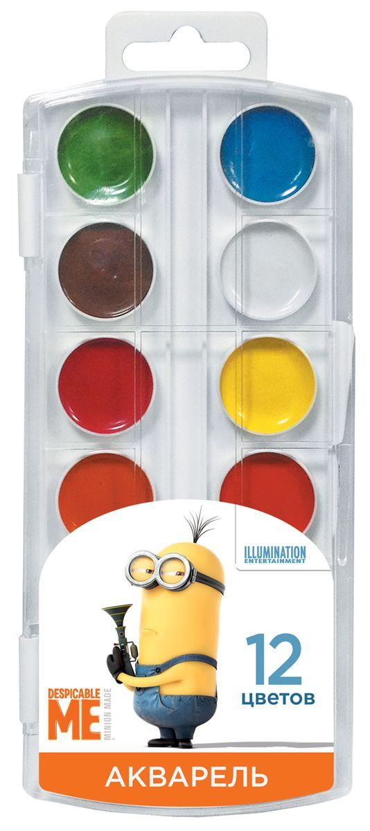 Universal Миньоны Краска акварель 12 цветов29531В наборе акварельных красок Гадкий Я 12 насыщенных цветов, которые помогут вашему малышу создать яркие картинки. Краски идеально подходят для рисования: они хорошо размываются водой, легко наносятся на поверхность, быстро сохнут, безопасны при использовании по назначению. Состав: вода питьевая, декстрин, глицерин, сахар, органические и неорганические тонкодисперсные пигменты, консервант, наполнитель. Не содержит спирта. Товар сертифицирован. Срок годности не ограничен. Размер упаковки: 8,5х19,7х1,2 см.