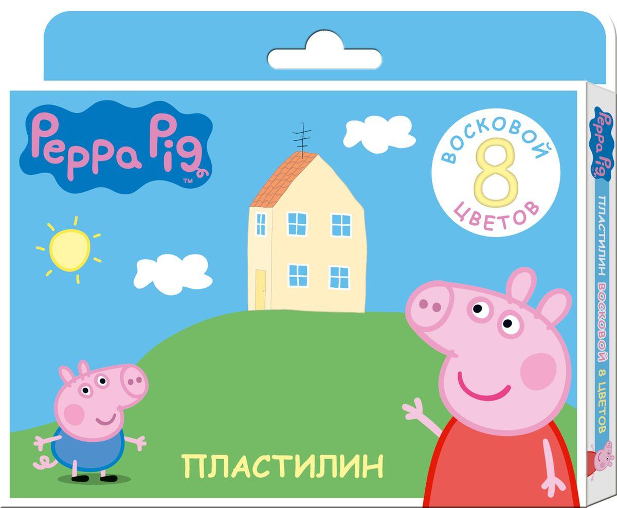 Peppa Pig Пластилин восковый Свинка Пеппа 8 цветов