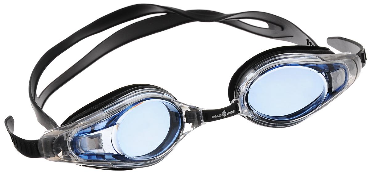 """Очки для плавания с диоптриями MadWave """"Optic Envy Automatic"""", цвет: черный, прозрачный, голубой, -5,5 M0430 16 J 05W"""