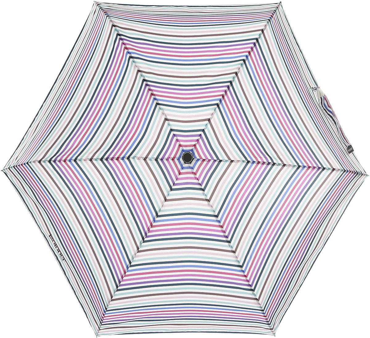 """Зонт женский Isotoner """"Летние полоски"""", автомат, 4 сложения, цвет: белый, мультицвет. 09145-3098"""