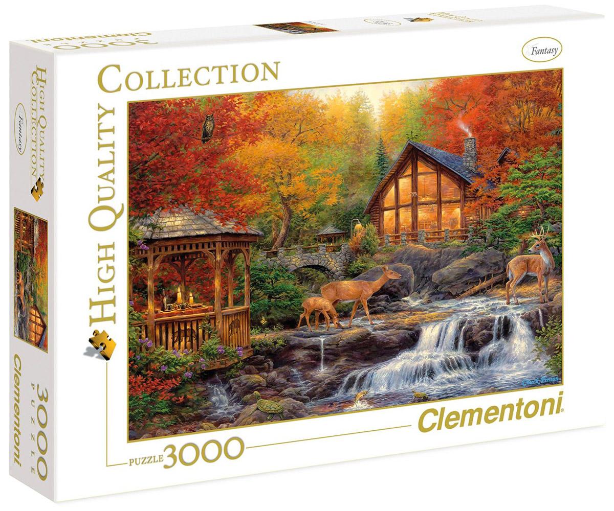 Clementoni Пазл Осень33540Пазл Clementoni Осень придется по душе все вашей семье. Собрав этот пазл, включающий в себя 3000 элементов, вы получите великолепную картину с изображением осеннего пейзажа - творение Чака Пинсона. Осенний пейзаж - отличное украшение интерьера, подходящее для современного офиса, кабинета или квартиры. Каждая деталь имеет свою форму и подходит только на свое место. Нет двух одинаковых деталей! Пазл изготовлен из картона высочайшего качества. Все изображения аккуратно отсканированы и напечатаны на ламинированной бумаге. Пазл - великолепная игра для семейного досуга. Сегодня собирание пазлов стало особенно популярным, главным образом, благодаря своей многообразной тематике, способной удовлетворить самый взыскательный вкус. А для детей это не только интересно, но и полезно. Собирание пазла развивает мелкую моторику у ребенка, тренирует наблюдательность, логическое мышление, знакомит с окружающим миром, с цветом и разнообразными формами.