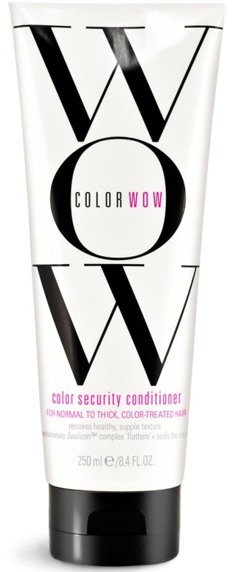 COLOR WOW Кондиционер Защита цвета для окрашенных, нормальных и густых волос, 250 млCW512Кондиционер интенсивно защищает и восстанавливает окрашенные волосы. Специальная технология Aquamino Emulsion ™ обеспечивает превосходное увлажнение, помогая вернуть волосам эластичность, силу и здоровый естественный внешний вид. Защитный комплекс предотвращает вымывание цвета, разглаживает и запечатывает кутикулу, делая волосы гладкими и послушными.
