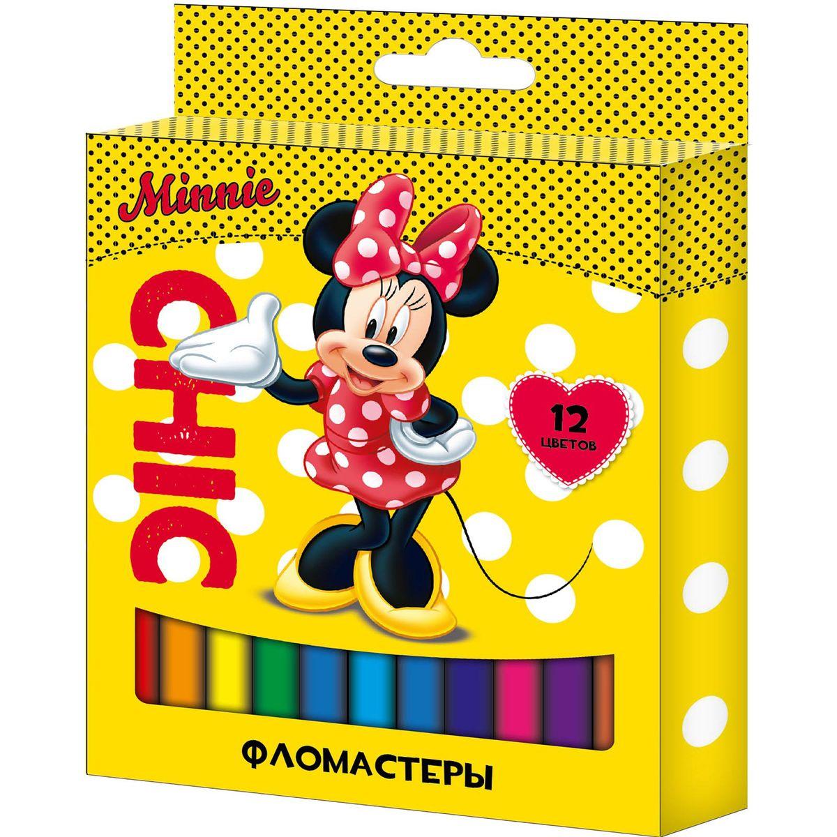 Disney Набор фломастеров Минни 12 цветов