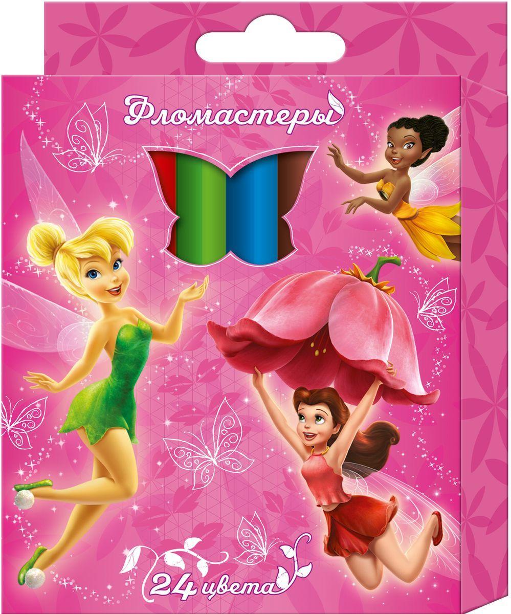Disney Набор фломастеров Феи 24 цвета