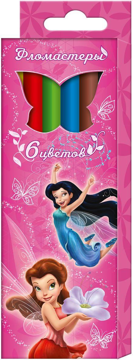 Disney Набор фломастеров Феи 6 цветов ( 29009 )