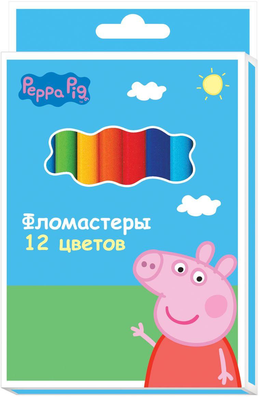 Peppa Pig Набор фломастеров Свинка Пеппа 12 цветов ( 29104 )