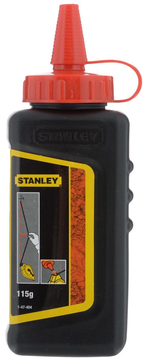 Меловой порошок Stanley, цвет: красный, 115 г1-47-404Меловой порошок Stanley, специально отобранный благодаря его адгезии и яркому насыщенному цвету. Плохая растворимость в воде, высокая стойкость к атмосферным условиям. Белый - для работ внутри помещений, например, по укладке коврового покрытия. Синий - для всех задач. Красный - для кладочных работ вне помещений, несмываемый. Вес: 115 г.