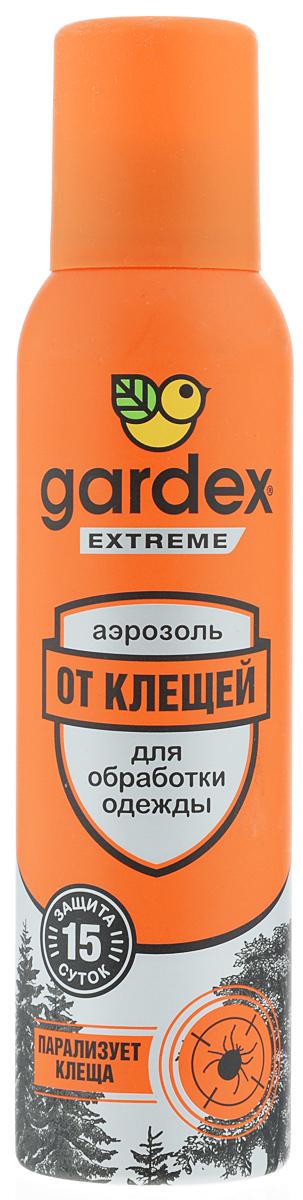 Аэрозоль от клещей Gardex Extreme, 150 мл0131Аэрозоль от клещей Gardex Extreme является эффективным средством, парализующим клещей после соприкосновения с одеждой. Также обеспечивает защиту от блох. Действие активного вещества сохраняется до 15 дней. Аэрозоль наносится на одежду и снаряжение. Перед нанесением средства одежду нужно снять, тщательно обработать, слегка просушить и затем надевать. Не забывайте наносить средство повторно по истечении указанного на упаковке времени - укусы опасны переносимыми клещами заболеваниями. Состав: альфациперметрин 0,2%, перметрин 0,15%, спирт этиловый, бутан, изобутан, пропан, функциональные добавки. Товар сертифицирован.