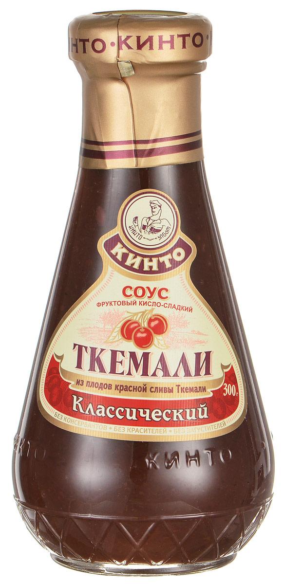 Кинто Ткемали классический соус фруктовый, 300 г2510Фруктовый кисло-сладкий соус Кинто Ткемали классический изготовлен из отборных сортов дикой красной сливы ткемали. Подходит к жареным и печеным блюдам из мяса, морепродуктов и картофеля. Не содержит ГМО, консервантов, загустителей и красителей. Соусы ткемали занимают одно из почетных мест в грузинской кухне и готовятся из различных видов слив, от зеленой до терна. Соусы ткемали Кинто удивят гурманов изысканными, натуральными и приготовленными по традиционным рецептам вкусами. Подобно первым лучам солнца, этот соус добавит каждому блюду свежести и изысканности.