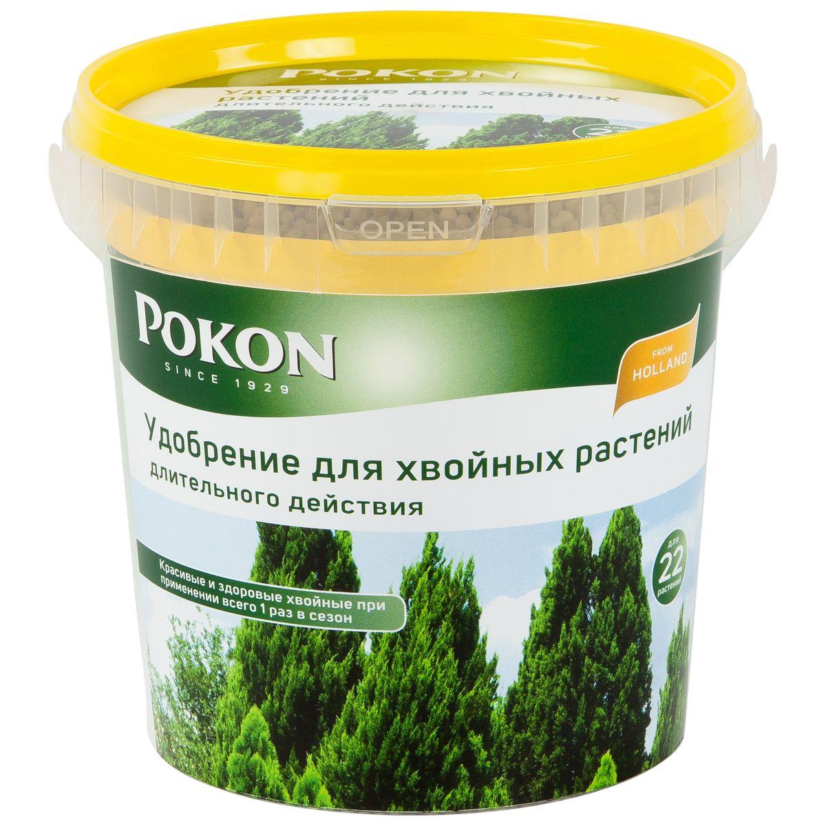 Удобрение Pokon для хвойных длительного действия, 900 г8711969016095Удобрение Pokon для хвойников длительного действия: NPK 18 + 6 + 21 с добавкой 2 MgO + 12 SO3 + 1 Fe. В удобрении Pokon длительного действия содержится все необходимое для хвойных на целое лето. Достаточно внести это удобрение один раз, и затем питательные вещества будут постепенно высвобождаться и проникать в растения в течение сезона под воздействием дождей и солнца. Магниевая добавка придает хвое насыщенную зеленую окраску. Инструкция по применению: - Вносите удобрение 1 раз в год, желательно весной или при посадке растений. - Отмерьте нужное количество гранул (1 мерная ложечка на 1 растение или 1,5 мерной ложечки на 1 кв. м). - Равномерно насыпьте гранулы вокруг ствола. - Смешайте гранулы с верхним слоем грунта. - Полейте грунт, и удобрение немедленно начнет действовать. - Не используйте при температуре выше +25 градусов и под прямыми солнечными лучами. Состав: 18% — общее содержание азота (N); 4,6% — нитратный азот; ...
