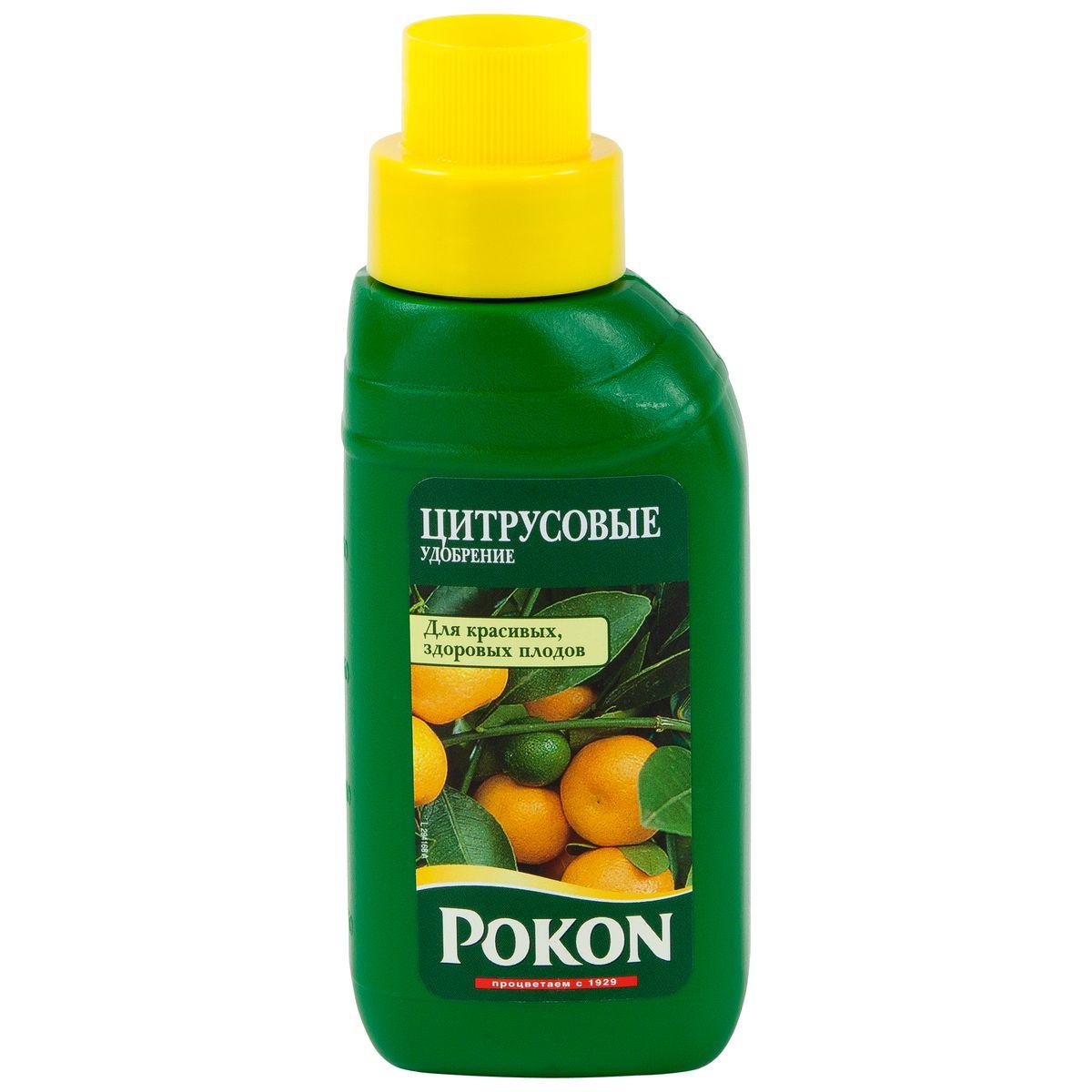 Удобрение Pokon для цитрусовых растений, 250 мл8719400011128Удобрение Pokon для цитрусовых растений: NPK 10 + 3 + 7. Это сбалансированное удобрение Pokon с высоким содержанием азота специально разработано для подкормки цитрусовых и других средиземноморских растений, выращиваемых в горшках, и способствует формированию красивых и полезных плодов. Инструкция по применению: - Добавьте удобрение в воду для полива (10 мл на 1 л воды). - Поливайте растения раствором удобрения 1 раз в неделю, с марта по август. Состав: Жидкое удобрение с соотношением NPK 10 + 3 + 7. Удобрение соответствует нормам ЕС.