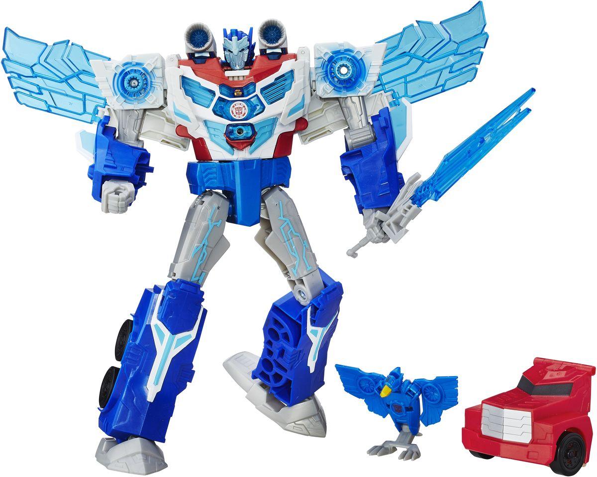 Transformers Трансформер Заряженый Оптимус ПраймB7066EU4Как в мультфильме: Большой Оптимус Прайм, который активируется при помощи Миниконов!