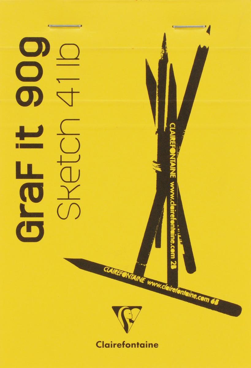 Clairefontaine Блокнот для рисования Graft It 80 листов цвет желтый96619С_желтыйClairefontaine - французская компания, выпускающая канцелярские товары, тетради и блокноты с 1858 года. Блокнот Clairefontaine Graft It идеален для рисования, эскизов или заметок. Внутренний блок состоит из 80 листов белоснежной бумаги, скрепленных металлическими скрепками. Обложка выполнена из плотного картона.