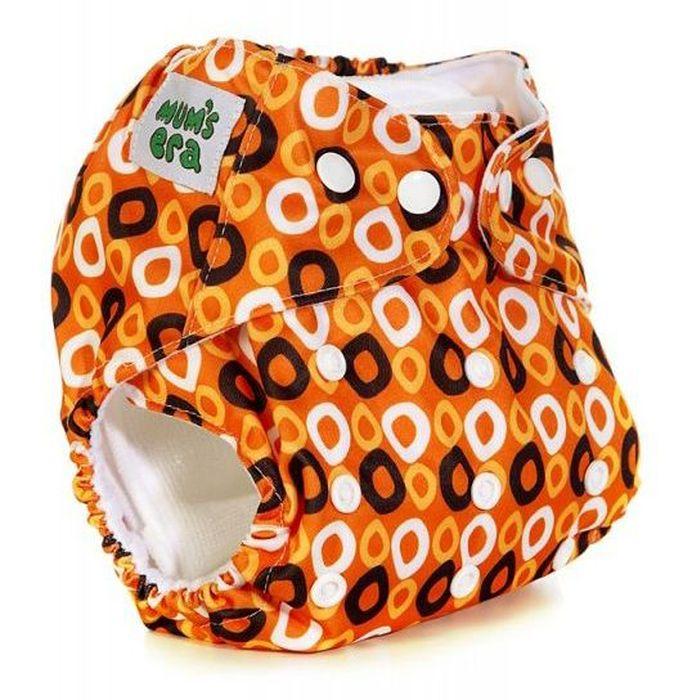 Mums Era Многоразовый подгузник Колечки с 2 вкладышами цвет оранжевый35192