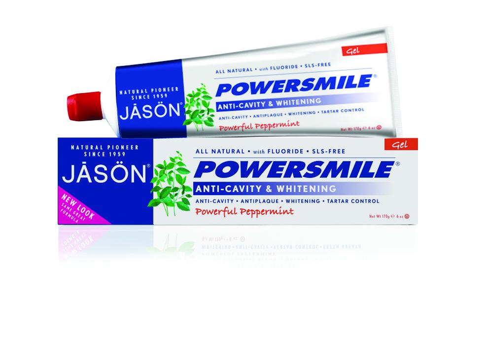 Jason Гелевая зубная паста Сыла улыбки, 170 гJ01540Специализированная, многофункциональная зубная гель-паста с фтором и СоQ10 показана для снятия плотного налета и безопасного отбеливания зубной эмали. Содержит только природные ПАВ и эксклюзивные природные микрочастицы с повышенным индексом абразивности, обладающие отменными полирующими свойствами. Снимает плотный зубной налёт от кофе, чая и табака, отбеливают эмаль и придают ей красивый блеск. Возвращая зубам их естественную белизну, оказывает помощь в борьбе с зубной бляшкой.