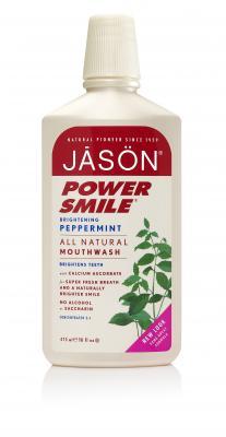 Jason Ополаскиватель для рта с мятой и корицей, 473 гJ01550Освежите дыхание без резких абразивов или раздражающих химических веществ. Ополаскиватель с экстрактом корицы и маслом мяты помогает сохранить здоровые десны и устранить неприятный запах изо рта.