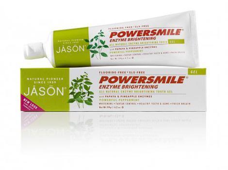 Jason Гелевая зубная паста ферментативная, 120 гJ01551Натуральная зубная паста без агрессивных абразивов или раздражающих химических веществ, с экстрактами цитрусовых и ферментами папайи и ананаса. Мгновенно освежает дыхание и сохраняет свежесть и чистоту на долгое время. Способствует предотвращению появления зубного камня, мягко отбеливает и осветляет вашу улыбку. Масло чайного дерева и масло Ним способствуют антисептическому действию.