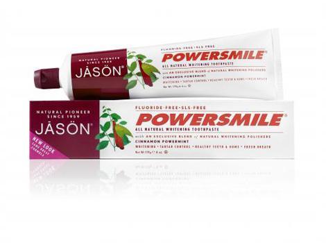 Jason Отбеливающая зубная паста с корицей и мятой, 180 гJ61894Натуральная зубная паста без агрессивных абразивов или раздражающих химических веществ, с экстрактом корицы и маслом мяты. Мгновенно освежает дыхание и сохраняет свежесть и чистоту зубов на долгое время. Способствует предотвращению появления зубного камня, мягко отбеливает и осветляет вашу улыбку.