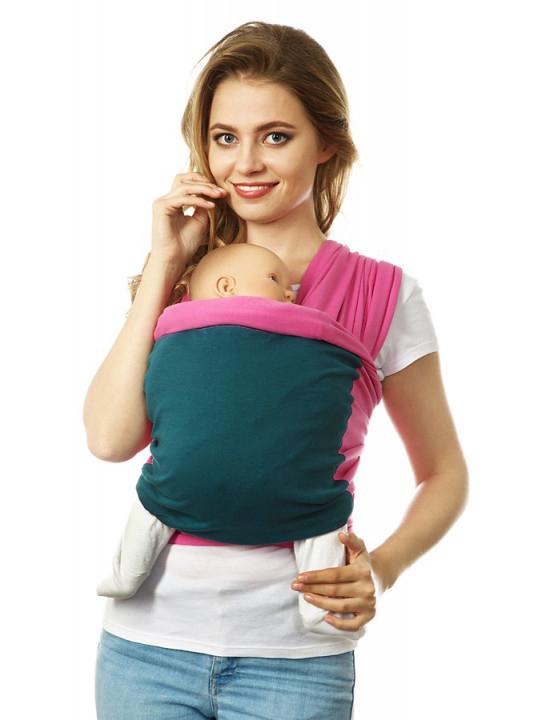Mums Era Слинг-шарф Фьюжн цвет розовый зеленый35120
