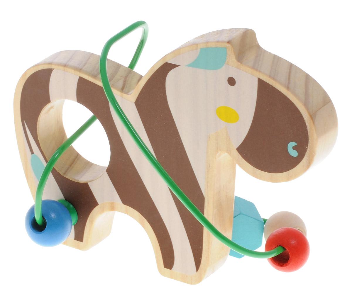 Мир деревянных игрушек Лабиринт ЗебраД346Лабиринт Мир деревянных игрушек Зебра - это замечательная игрушка для малышей! Игрушка в виде зебры выполнена из качественных материалов по европейским стандартам и покрыта специальной краской на водной основе, которая абсолютно безопасна для вашего малыша. Краска устойчива к воздействию влаги и нетоксична, рисунок на изделии долгое время будет сохранять яркость. Натуральное дерево, из которого изготовлена игрушка, прошло специальную обработку, в результате чего на модели не осталось острых углов или шероховатых поверхностей, которые могут повредить кожу ребенка. Производитель использует только экологически чистую новозеландскую сосну для производства своих игрушек. К игрушке прикреплена изогнутая проволока, по которой свободно могут двигаться фигурки, различные по цвету и форме. Мелкие детали не снимаются. Лабиринт способствует развитию моторики, тренирует мышцы кисти, отрабатывает круговые движения, стимулирует визуальное восприятие, когнитивное мышление, развивает...