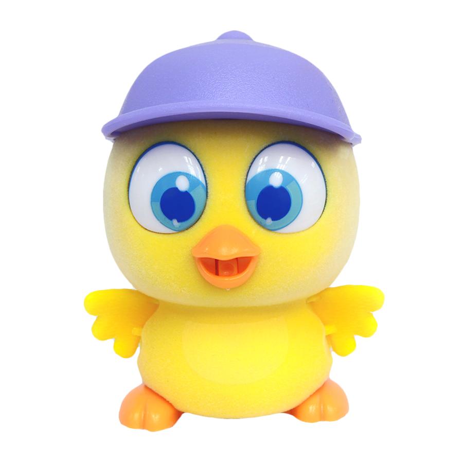 Пи-ко-ко Интерактивная игрушка Цыпленок в кепке22110Интерактивная игрушка Пи-ко-ко Цыпленок в кепке приведет в восторг любого ребенка. После включения птенец начинает идти, весело щебетать и махать крыльями. Стоит хлопнуть в ладони, он громко запищит и быстро начнет бежать. Если взять его в руки и покормить из бутылочки, входящей в набор, птенец успокоится и радостно зачирикает. После этого он начнет медленно ходить и щебетать, пока опять не услышит громкий звук. Необходимо купить батарейку типа AAA (не входит в комплект).