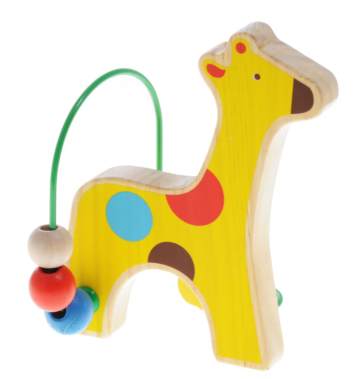 Мир деревянных игрушек Лабиринт ЖирафД348Лабиринт Мир деревянных игрушек Жираф - это замечательная игрушка для малышей! Игрушка в виде жирафа выполнена из качественных материалов по европейским стандартам и покрыта специальной краской на водной основе, которая абсолютно безопасна для вашего малыша. Краска устойчива к воздействию влаги и нетоксична, рисунок на изделии долгое время будет сохранять яркость. Натуральное дерево, из которого изготовлена игрушка, прошло специальную обработку, в результате чего на модели не осталось острых углов или шероховатых поверхностей, которые могут повредить кожу ребенка. Производитель использует только экологически чистую новозеландскую сосну для производства своих игрушек. К игрушке прикреплена изогнутая проволока, по которой свободно могут двигаться фигурки, различные по цвету и форме. Мелкие детали не снимаются. Лабиринт способствует развитию моторики, тренирует мышцы кисти, отрабатывает круговые движения, стимулирует визуальное восприятие, когнитивное мышление, развивает...