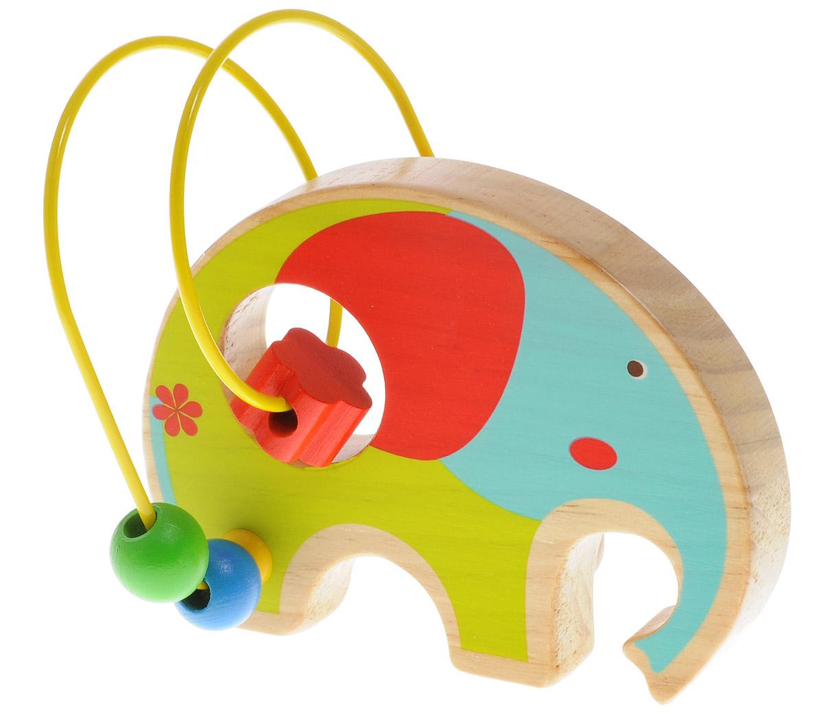 Мир деревянных игрушек Лабиринт СлонД345Лабиринт Мир деревянных игрушек Слон - это замечательная игрушка для малышей! Игрушка в виде слона выполнена из качественных материалов по европейским стандартам и покрыта специальной краской на водной основе, которая абсолютно безопасна для вашего малыша. Краска устойчива к воздействию влаги и нетоксична, рисунок на изделии долгое время будет сохранять яркость. Натуральное дерево, из которого изготовлена игрушка, прошло специальную обработку, в результате чего на модели не осталось острых углов или шероховатых поверхностей, которые могут повредить кожу ребенка. Производитель использует только экологически чистую новозеландскую сосну для производства своих игрушек. К игрушке прикреплена изогнутая проволока, по которой свободно могут двигаться фигурки, различные по цвету и форме. Мелкие детали не снимаются. Лабиринт способствует развитию моторики, тренирует мышцы кисти, отрабатывает круговые движения, стимулирует визуальное восприятие, когнитивное мышление, развивает...